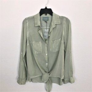 Skies Are Blue Soft Mint Green Long Sleeve Blouse